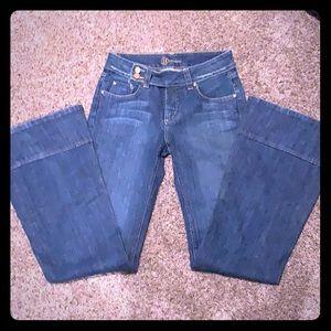 Bebe Wide Hem Trouser Jeans